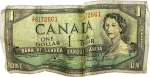 oldie canuck dollar bill