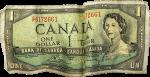 oldie canuck dollar bill
