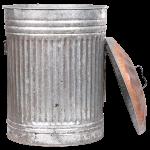 tin garbage can