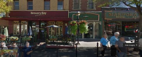 Down by the Bay & Brewery Bay, restaurant, beside the Mariposa Market Orillia, ON
